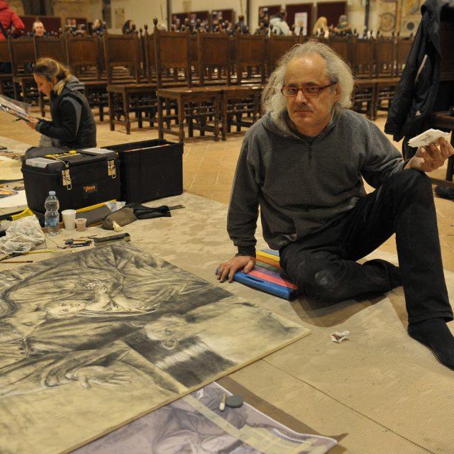 Riscoprire il presepe attraverso l'arte e la bellezza: a Rieti le opere dei Madonnari arrivati da tutta Italia